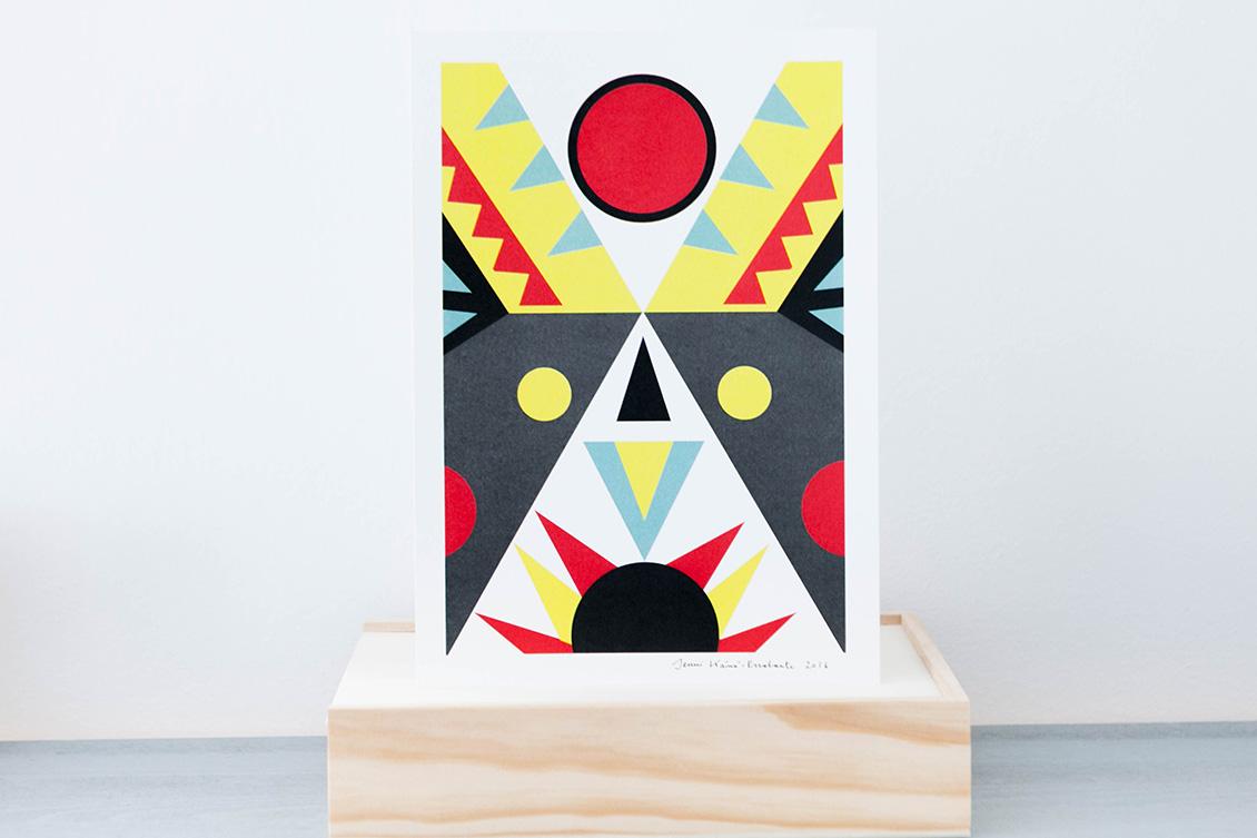 Ar Prints Jenka - Red Point